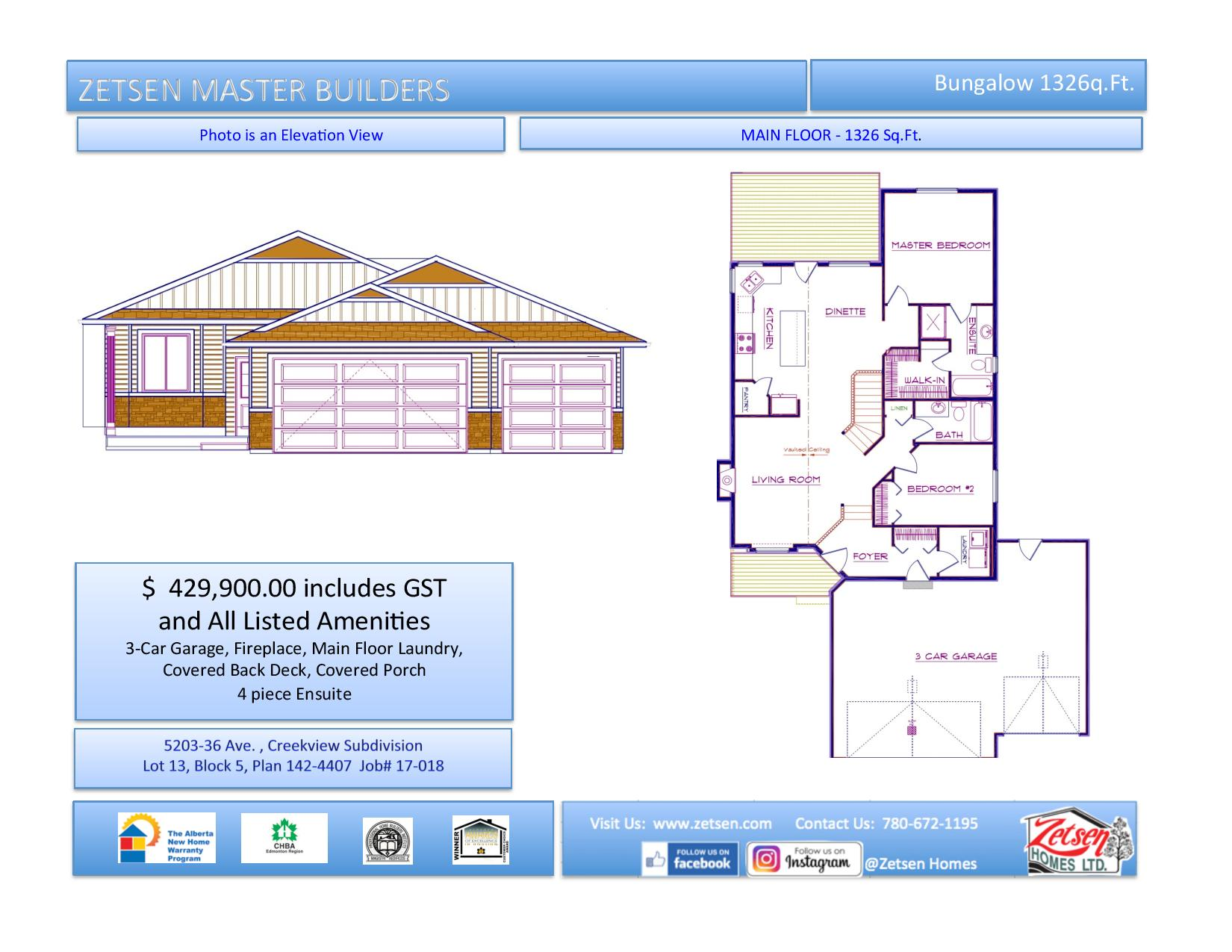 New Bungalow In Creekview